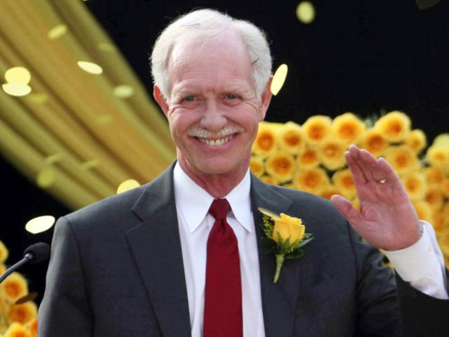 Sully Lands Atop Rose Parade