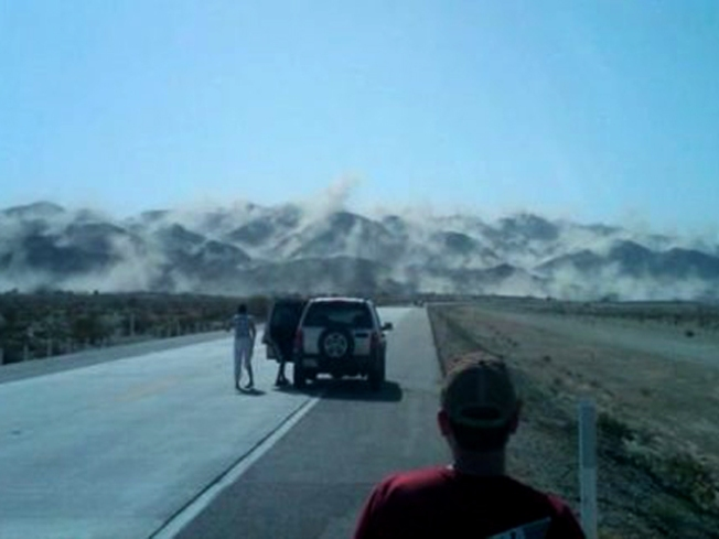 Pic: Earthquake Lifts Layer of Dust Off a Mountain Range