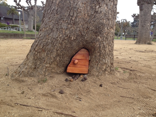 Whimsical Tiny Treehouse Door Replaced With Inferior Model