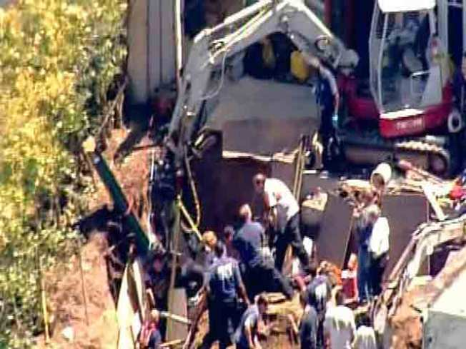 Construction Worker Trapped in Trench, Rescued