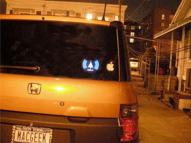 Wi-Fi-Detecting Bumper Sticker Tempts Driver Distraction