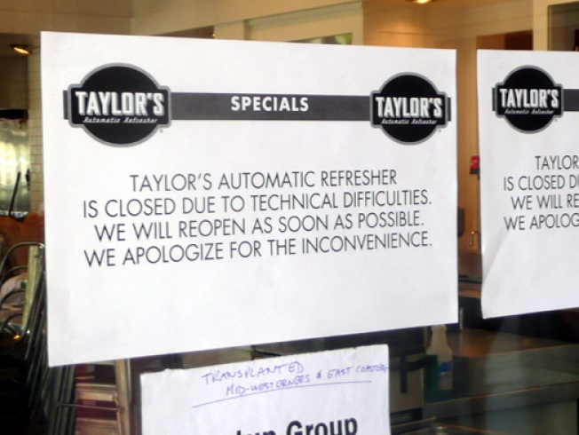 Disaster Report: Taylor's Refresher Had a Wet Saturday