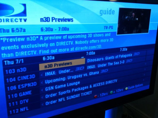 DirecTV Launches 3 3D Channels, But Is Anything on?