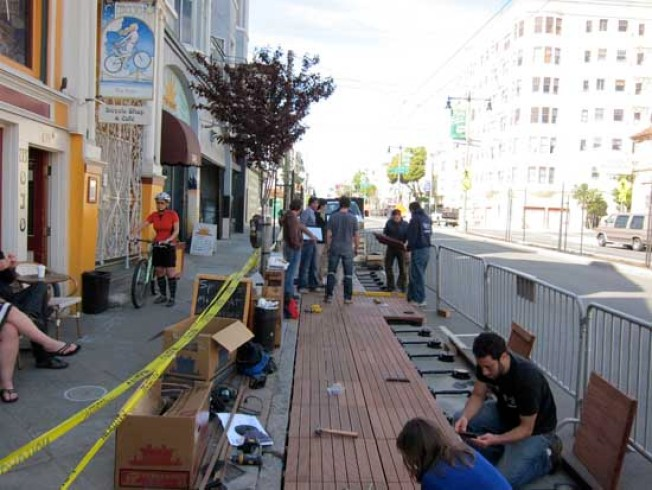 North Beach Gets Latest Pavement-to-Parklet
