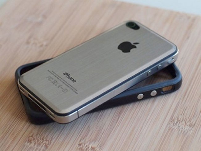 Toughen Up Your iPhone 4 by Replacing the Black With Metal