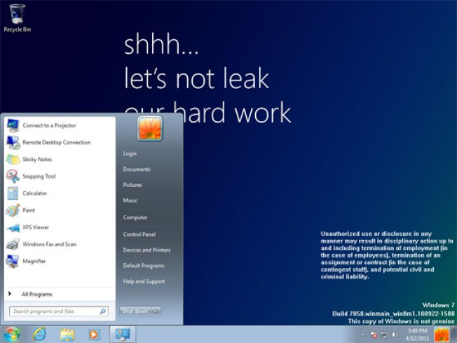 Super-Early Build of Windows 8 Leaks Out