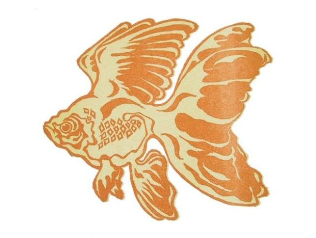 Winged Goldfish Card