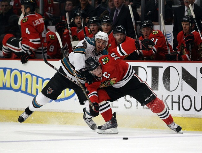 Sharks Roughed Up in Chicago