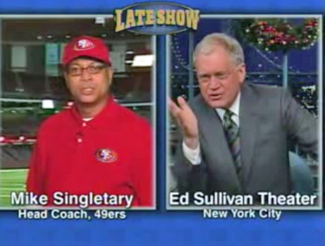 Why is Letterman Making Fun of Singletary?