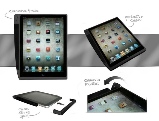 Concept iPad Case Adds That Missing Camera, With a Twist