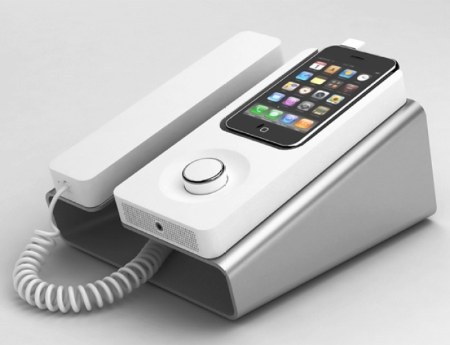 Stylish Retro Dock Turns Your iPhone Into a Corded Phone