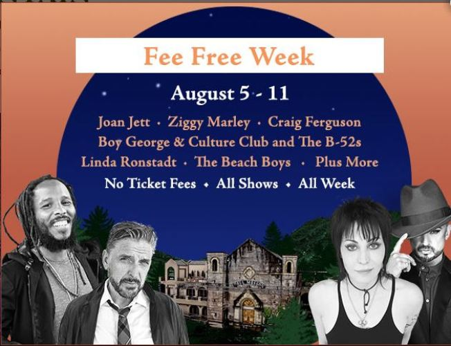 Fee Free Week at The Mountain Winery