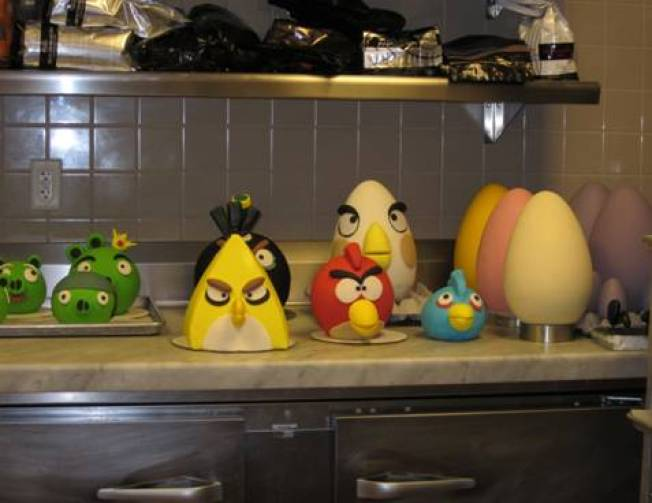 """Angry Bird"" Pastries"