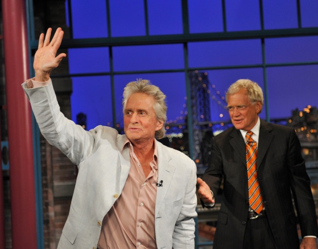 Michael Douglas Talks Cancer on Letterman, Receives Hug