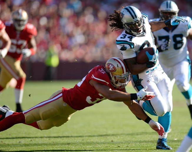 Panthers Knock 49ers Off Track