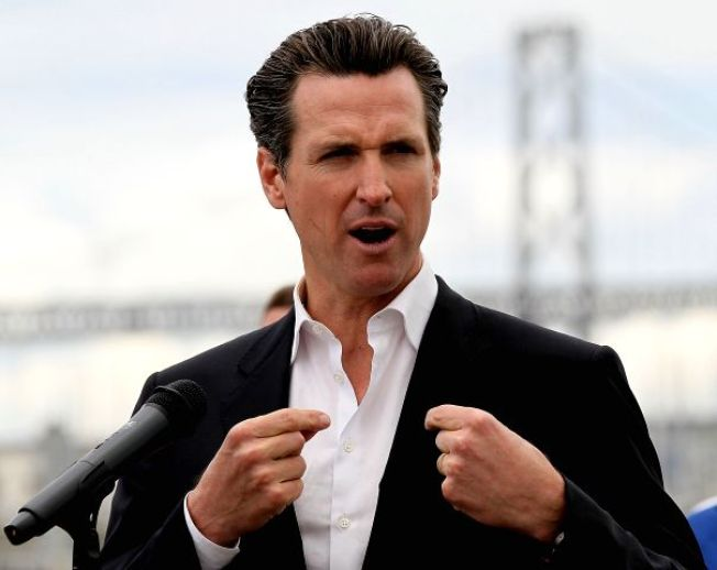 "Rumor Newsom's Running for Gov. ""Silly"""