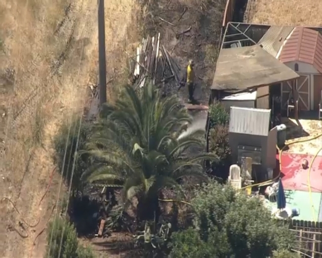 Downed Power Lines Spark Grass Fire in East Palo Alto