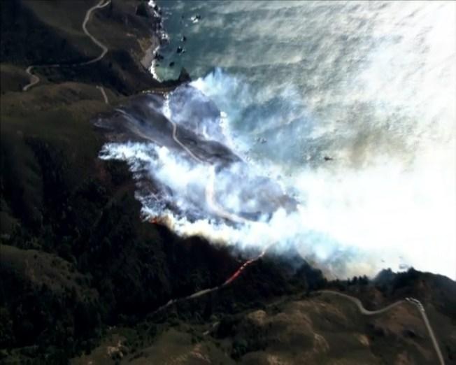 Muir Fire Near Slide Ranch Area of Marin County Shuts Down Highway 1