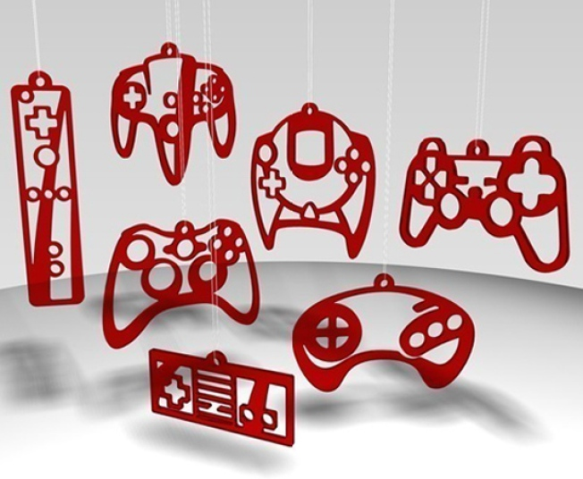 Show Your Allegiance With Video Game Console Ornaments