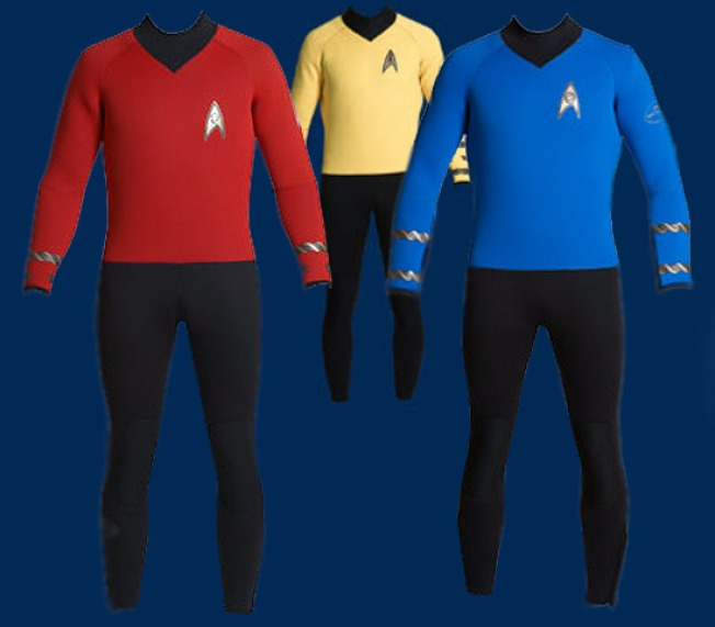 Star Trek Wetsuits Set Phasers on Stunning