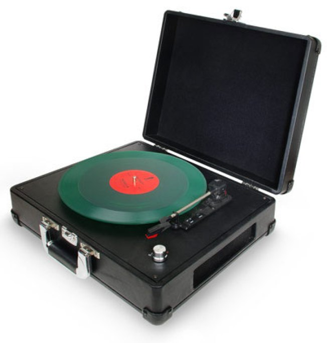 Look Out iPod: Briefcase Turntable Gives Vinyl Legs