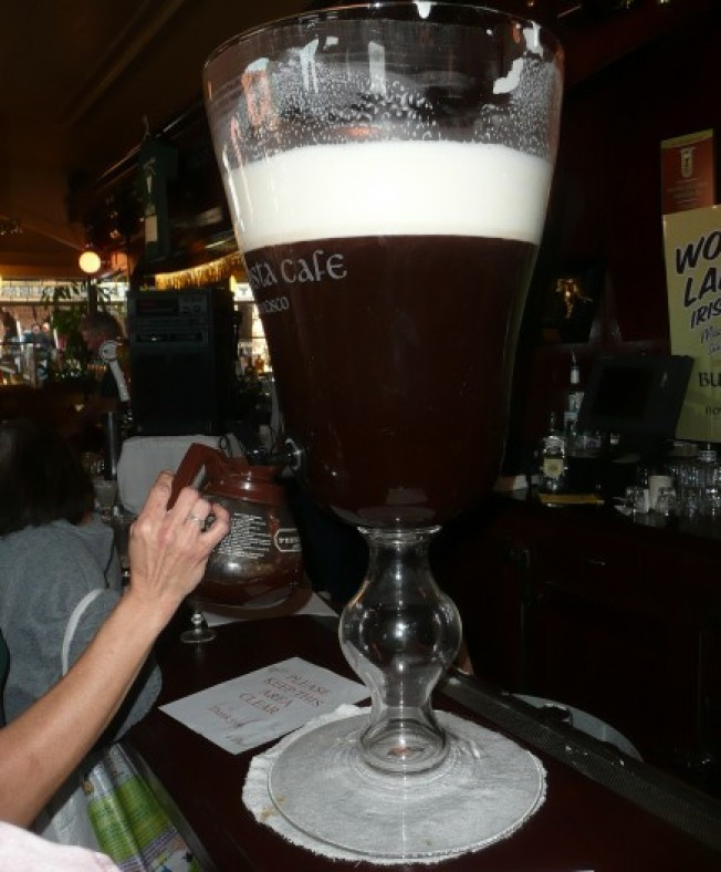 Human Stunts: Behold the World's Largest Irish Coffee