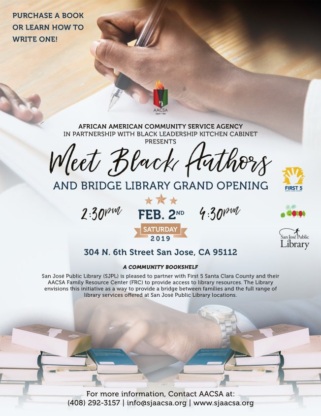 Meet Black Author's and City of San Jose's Sixth Bridge Library Grand Opening