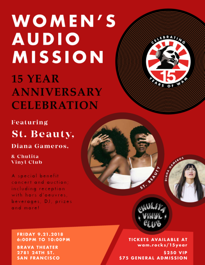 Women's Audio Mission's 15 Year Anniversary