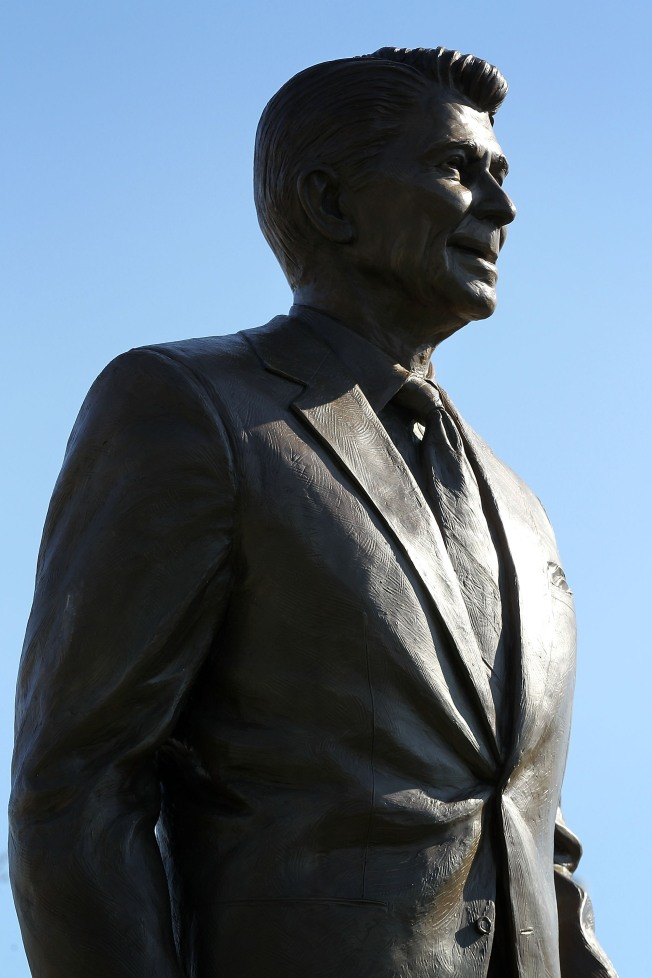 Tear Down This Statue: Ronald Reagan Image Vandalized