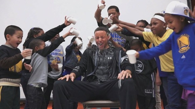 MLK Elementary Students Pour Water on Golden State Warriors Star Stephen Curry at Brita Event