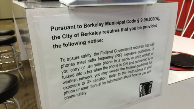 Berkeleys right to know cell phone radiation warning ordinance berkeleys right to know cell phone radiation warning ordinance now in effect sciox Gallery