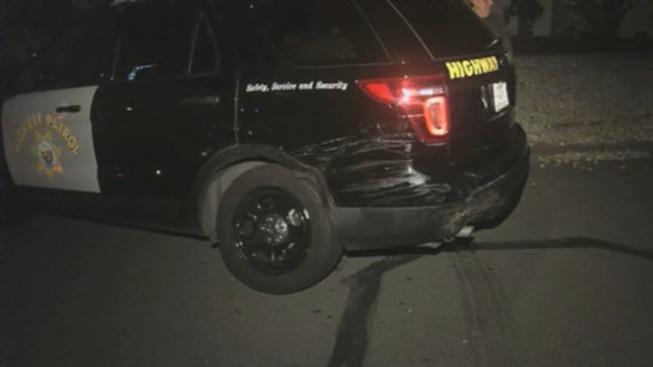 Suspect Rams Multiple CHP Vehicles During Pursuit Through East Bay