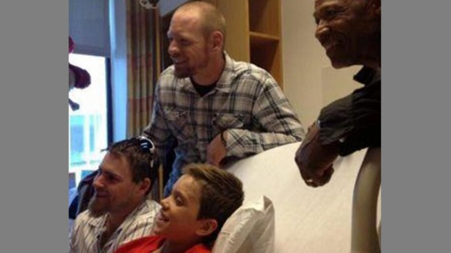 Oakland A's Meet Martinez Boy Hurt in Boston Blast