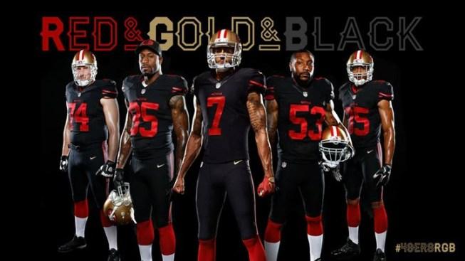 204b2aa4397 Black Sundays  49ers Unveil Alternate Jersey - NBC Bay Area