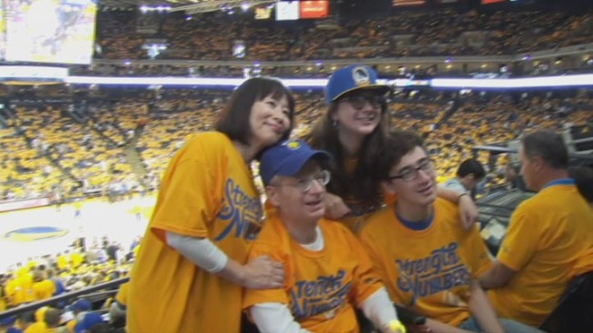 Fundraiser Helps Warriors Fan Suffering From Brain Cancer Attend Playoff Game