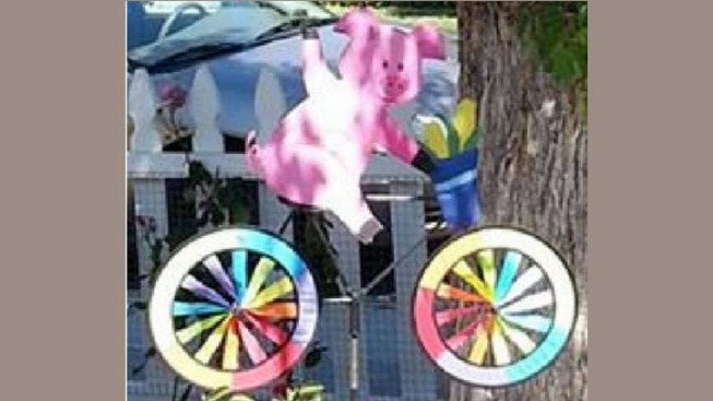 Police Searching for Stolen Artwork of Pig Riding a Bike