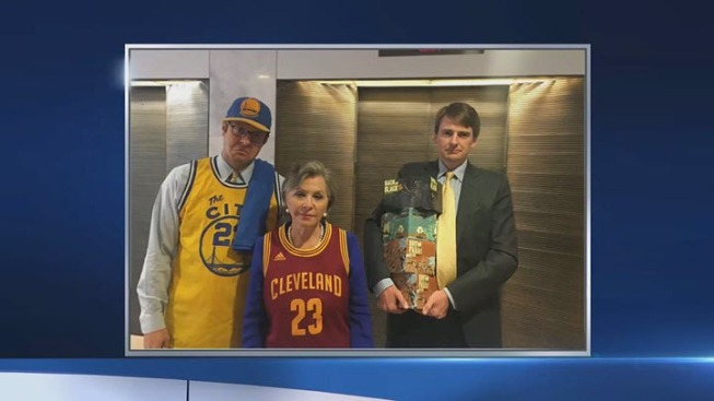 California Senator Barbara Boxer Loses NBA Finals Bet, Wears