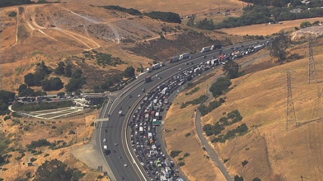 CHP Officer Injured in Crash While Responding to Interstate 80 Pursuit