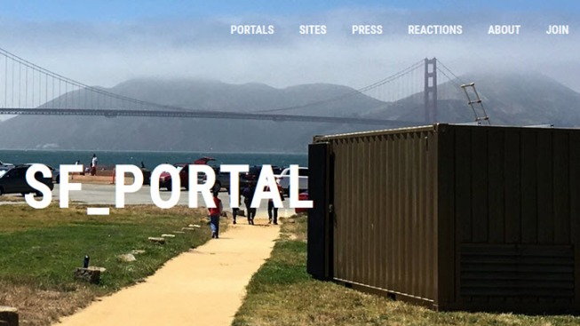 Crissy Field Portal Connects People from Across the Globe
