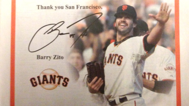 Barry Zito Thanks Giants Fans in Full Page Chronicle Ad