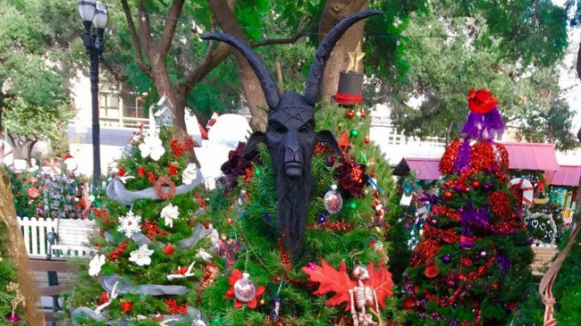 Goat Head Tree Topper Missing From Satanic Temple Of San Jose S