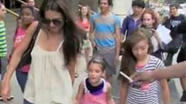 """Suri Cruise Called a """"Little Brat"""" (and Worse) by Photog After 7-Year-Old Tells Paparazzi to """"Stop It"""""""