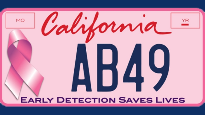 Pink Breast Cancer Awareness License Plates Need Californian's Support