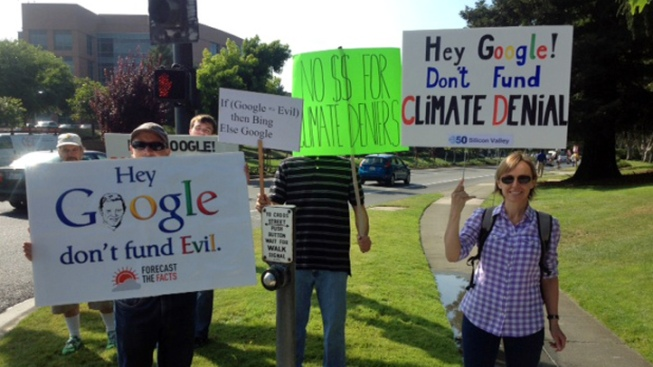 "Protesters Call on Google to ""Stop Funding Climate Denial"""