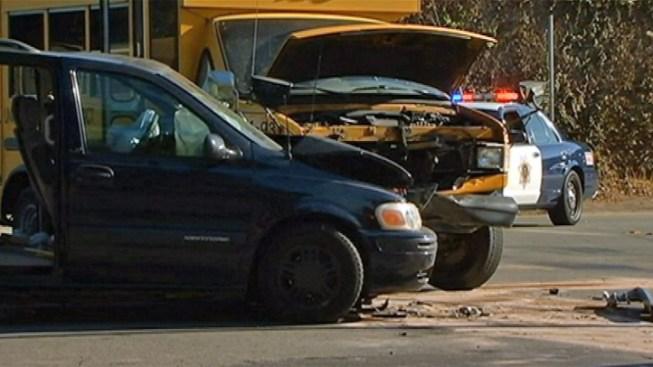 Several Injured in School Bus vs. Minivan Crash in San Jose
