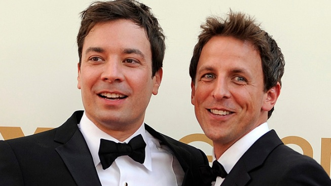 "Jimmy Fallon's Advice to Incoming ""Late Night"" Host Seth Meyers: Make Friend's With a Certain Celeb"