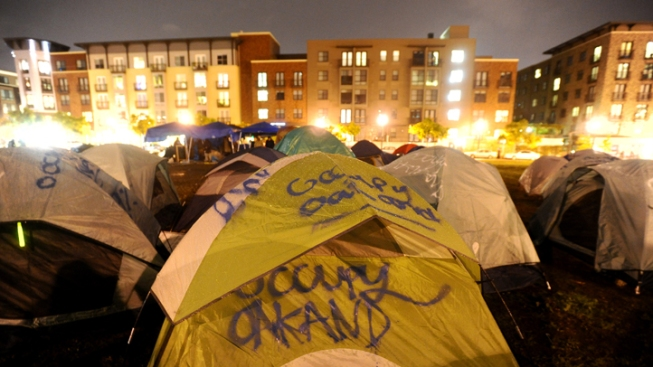 Occupy Oakland Re-Occupying Frank Ogawa Plaza