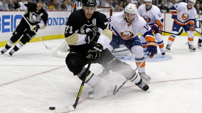 Penguins top Islanders in Game 1; Sharks, Bruins win, too