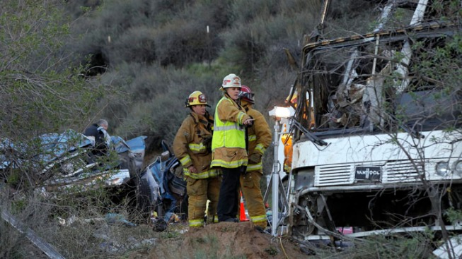 Eighth Victim Dies After Tour Bus Crash Near L.A.