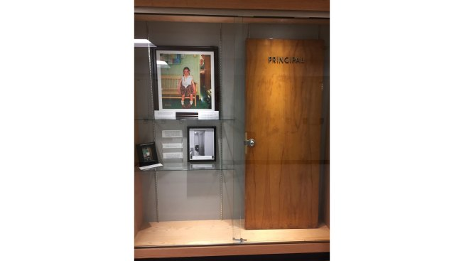 Principal's Door From Rockwell's Iconic 'Shiner' Preserved